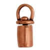 Revolving End Cap-plain 12mm 3mm Hole Antique Copper